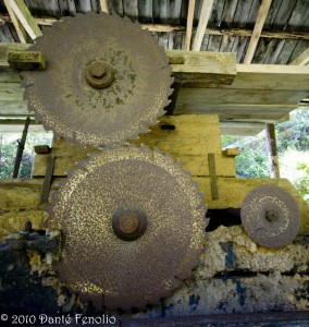 Logging has been present in Chile for a long time.  This is an old water powered saw mill.